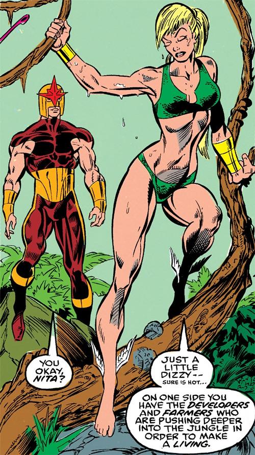 Namorita of the New Warriors (Classic era) (Marvel Comics) Nova and Namorita in the jungle