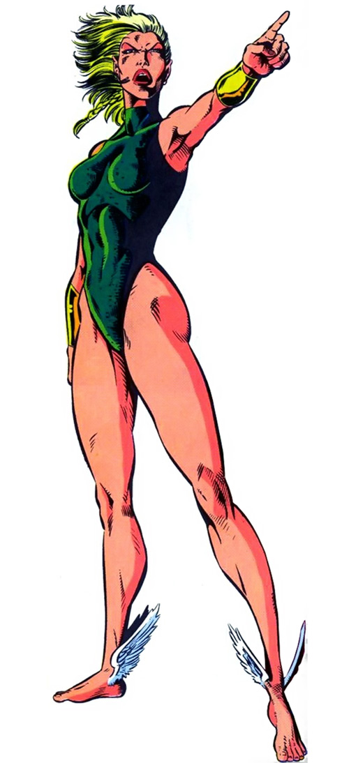 Namorita of the New Warriors (Classic era) (Marvel Comics) pointing angrily