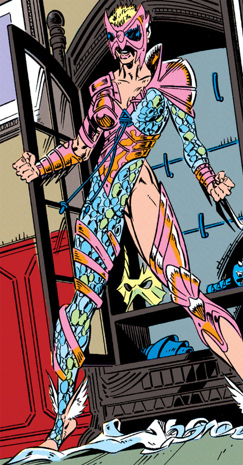 Namorita of the New Warriors (Classic era) (Marvel Comics) in Atlantean ritual armor