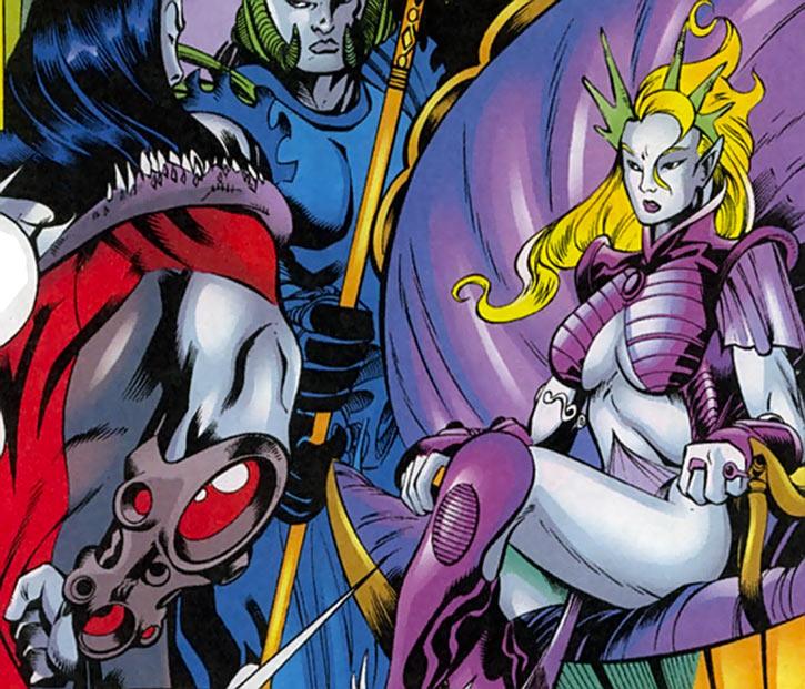 Namorita (Marvel Comics) ruling New Atlantis throne