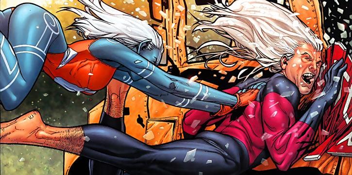 Namorita (Marvel Comics) body-blocks Nitro singled