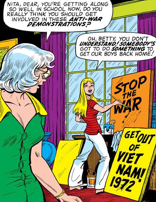 Namorita (Marvel Comics) 1972 stop the war vietnam protest