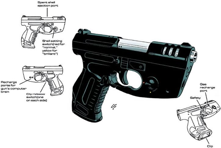Nathan Kane's futuristic gun in Ocean