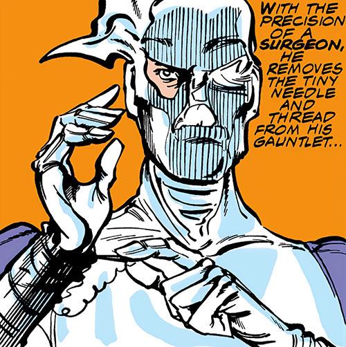 The Needle (Marvel Comics) mask closeup