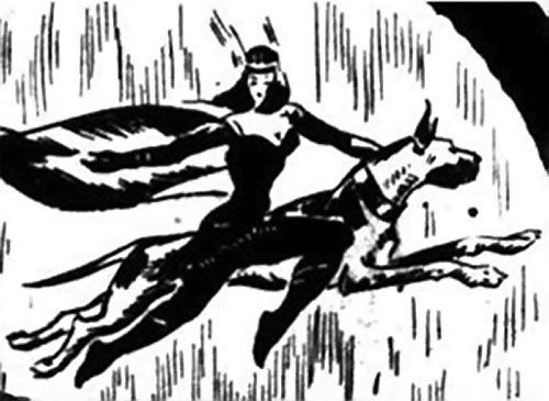 Nelvana of the Northern Light (Canadian whites Triumph comics) flying at her brother's side