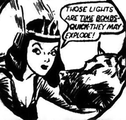Nelvana of the Northern Light (Canadian whites Triumph comics) talking with her brother as a dog