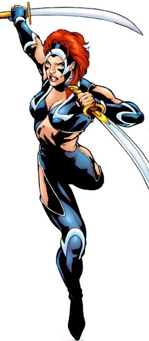 Nemesis (Soseh Mykros) (JSA character) (DC Comics) cover art