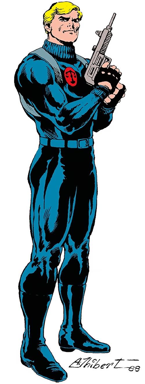 Nemesis (Tresser) (Pre-Crisis DC Comics Brave Bold) with a mini-Uzi