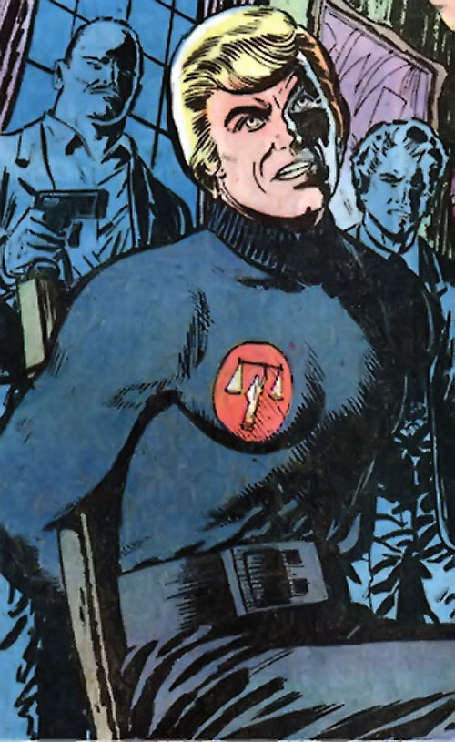 Nemesis (Tresser) (Pre-Crisis DC Comics Brave Bold) tied to a chair
