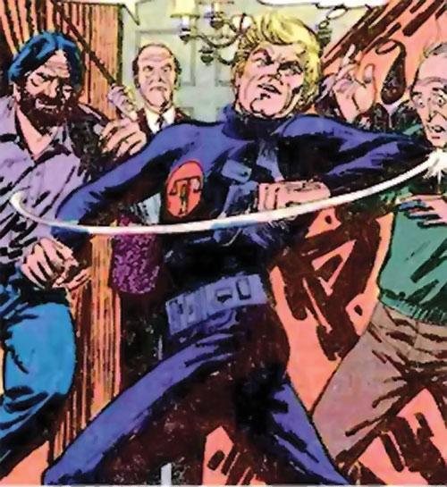 Nemesis (Tresser) (Pre-Crisis DC Comics Brave Bold) fighting thugs