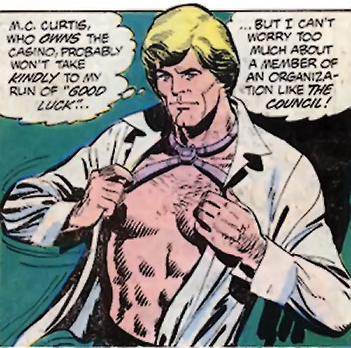 Nemesis (Tresser) (Pre-Crisis DC Comics Brave Bold) putting on shirt