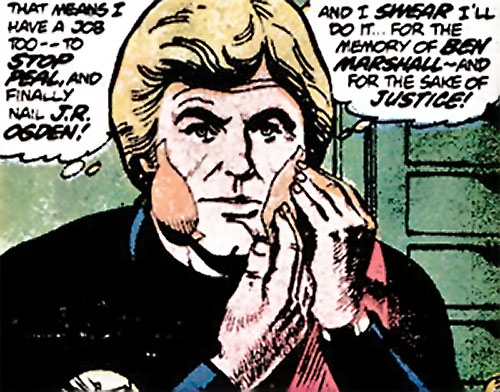 Nemesis (Tresser) (Pre-Crisis DC Comics Brave Bold) disguising himself