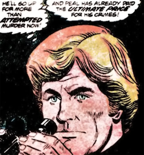 Nemesis (Tresser) (Pre-Crisis DC Comics Brave Bold) face closeup in darkness