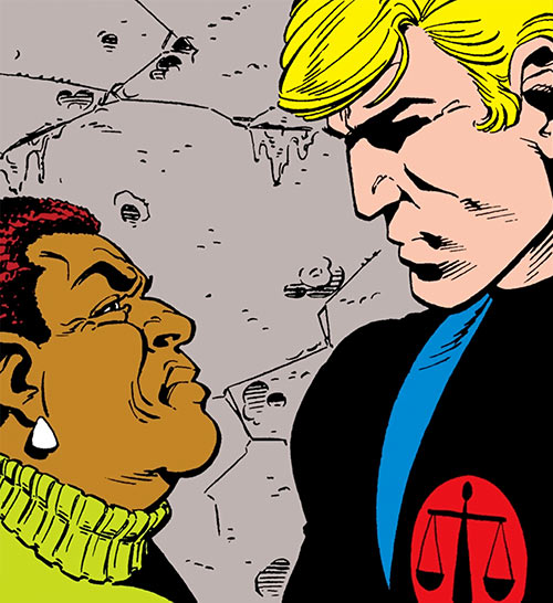 Nemesis (Tresser) (Pre-Crisis DC Comics Brave Bold) facing Amanda Waller