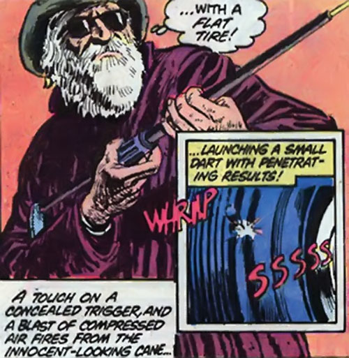 Nemesis (Tresser) (Pre-Crisis DC Comics Brave Bold) with a secret gun