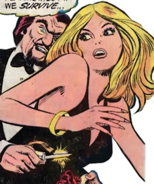 Valerie Foxsworth (Nemesis ally) (DC Comics) in a black dress
