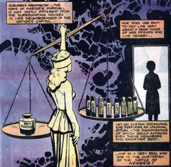 Nemesis (Thomas Tresser)'s scales of justice