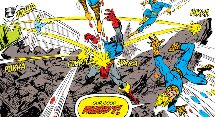 Earliest New Warriors (Marvcel Comics) Speedball vs. Terrax