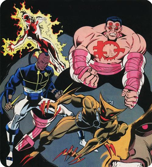 New Warriors (Marvel Comics) (Team Profile #2) Folding Circle