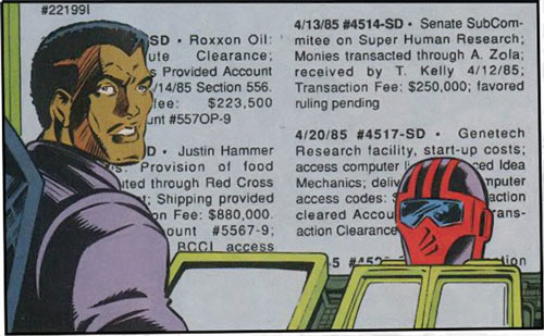 New Warriors (Marvel Comics) (Team Profile #2) Night Thrasher looking at toxic assets listings