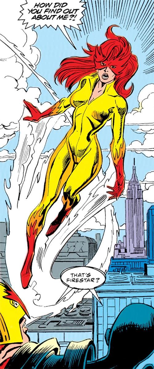 New Warriors - Marvel Comics - Earliest - recruiting Firestar
