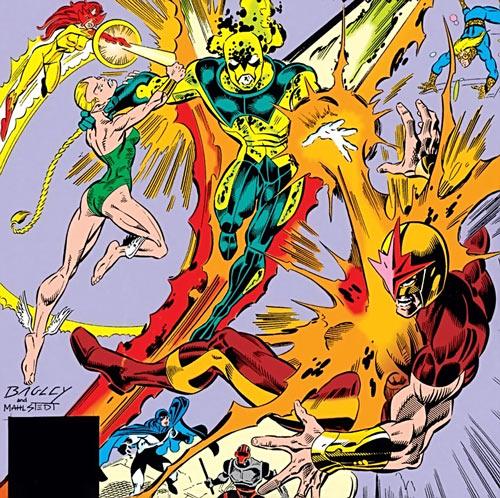 New Warriors vs. Star-Thief - Marvel Comics - Bagley