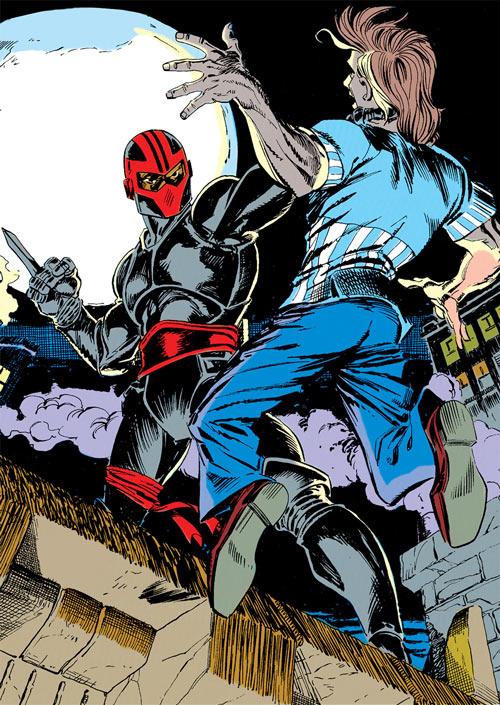 New Warriors - Marvel Comics - Earliest - Night Thrasher recruiting Nova