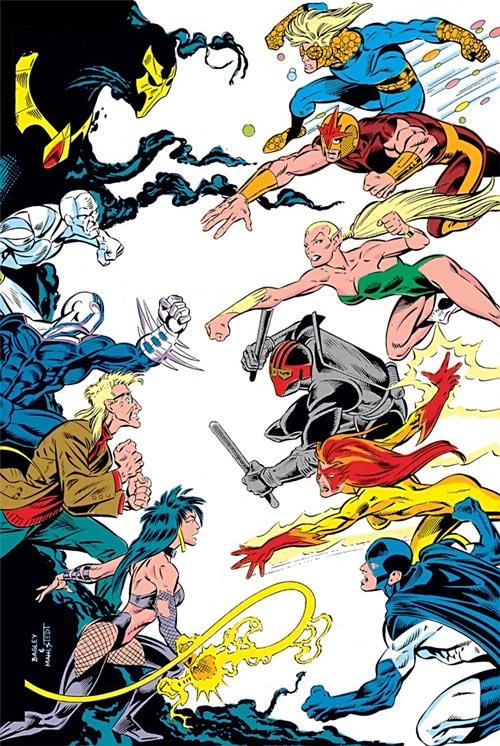 New Warriors - Marvel Comics - Team - vs. Psionex