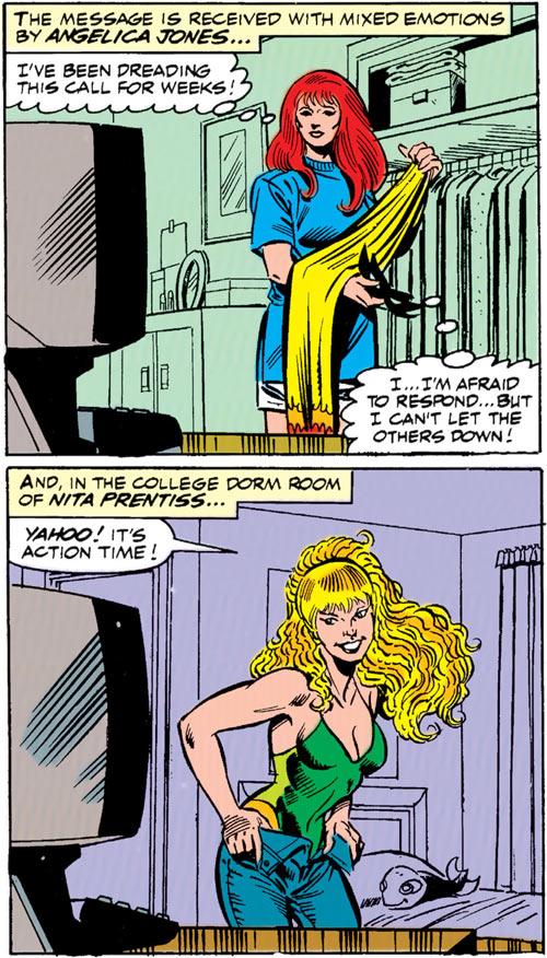 New Warriors - Marvel Comics - Earliest - Firestar and Namorita in civvies
