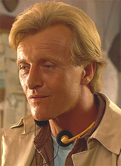 Nick Parker (Rutger Hauer in the movie Blind Fury) face closeup