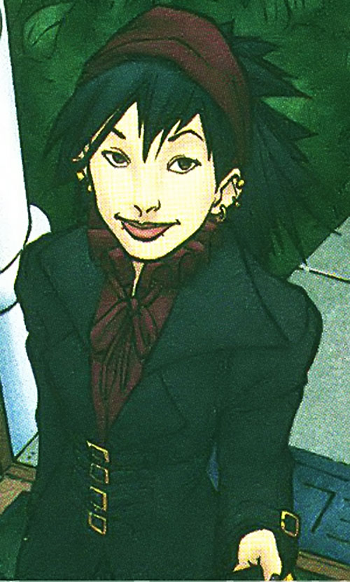 Nico Minoru aka Sister Grimm of the Runaways (Marvel Comics) in good goth clothing