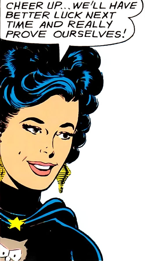 Night Girl of the Legion of Super-Heroes (DC Comics Silver Age) face closeup