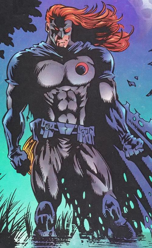 Night Man (Ultraverse Malibu comics) standing in the water