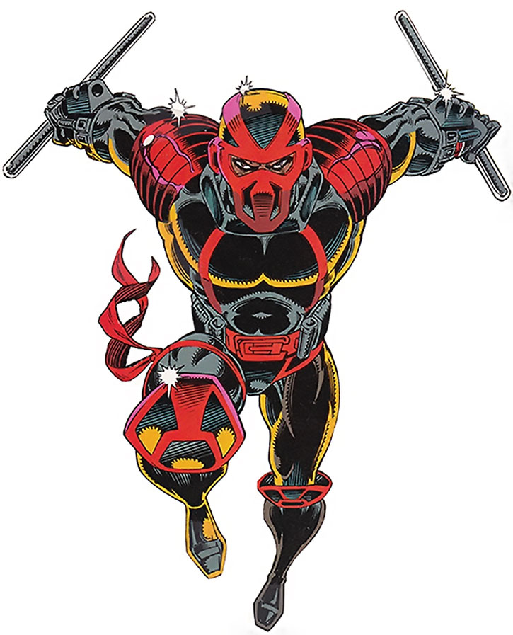 Night Thrasher (Dwayne Taylor) charging in
