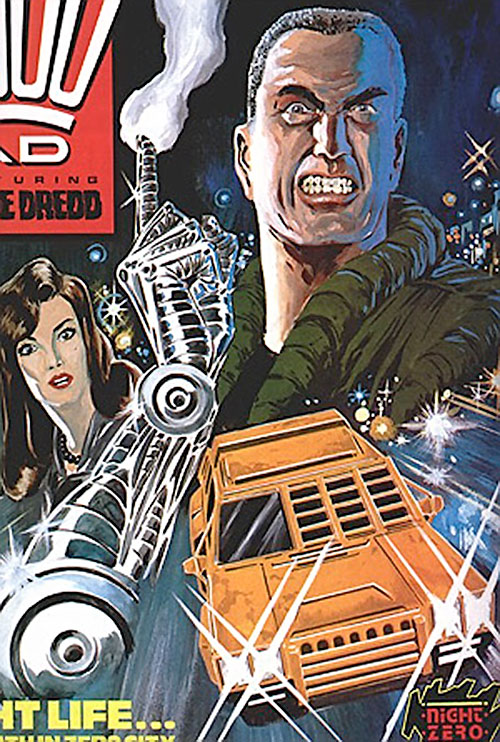 Night Zero (Tanner) (2000AD comics) and his armored taxi
