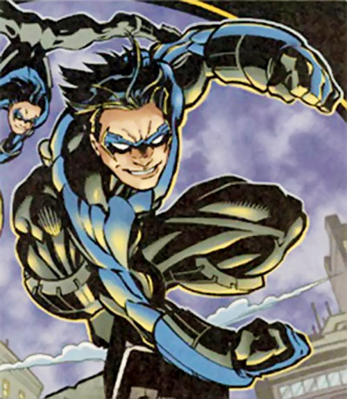 Nightwing leaping by MacDaniel