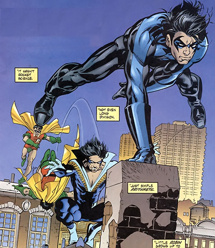 Evolution of Dick Grayson and his costumes