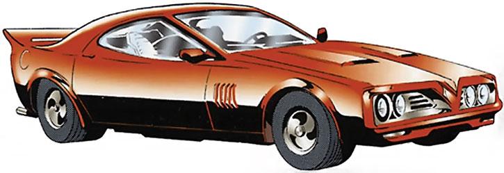 Nightwing (Dick Grayson)'s Nightbird car
