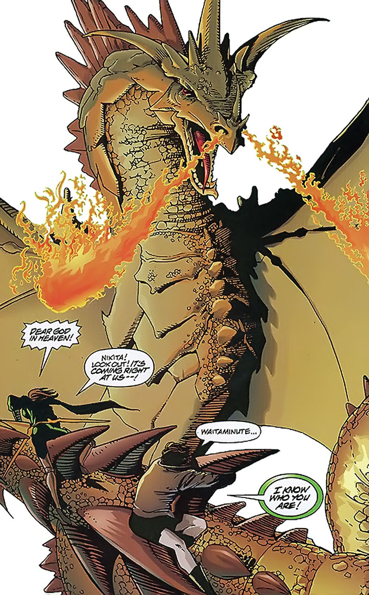 Nikita meets her dragon