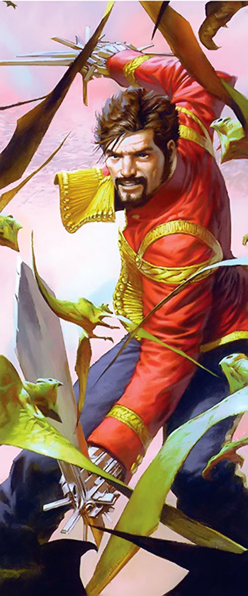 Nikolai Dante (2000AD comics) vs. miniature pteradons