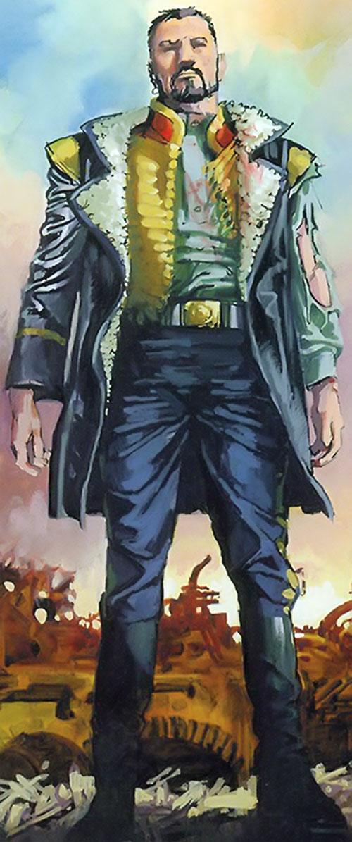 Nikolai Dante (2000AD comics) in a blue uniform