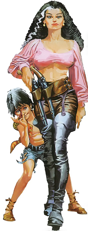 Nikolai Dante as a little boy, and Katarina (2000AD comics)