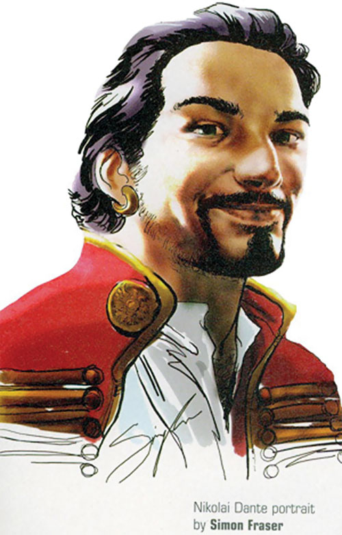 Nikolai Dante (2000AD comics) portrait by Simon Fraser