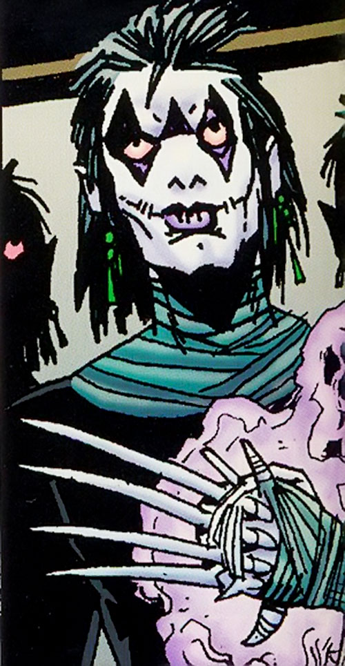 Ninja Mime (Grimjack comics) with a claws weapon