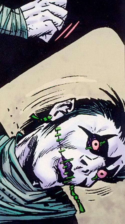Ninja Mime (Grimjack comics) miming a hanging