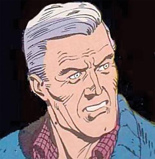 Nite Owl of the Minutemen (Watchmen DC Comics) unmasked face closeup