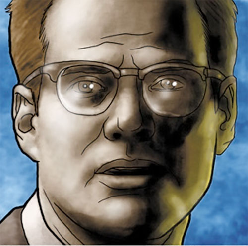 Drawn portrait of Mister Bennet (Jack Coleman in NBC's Heroes)