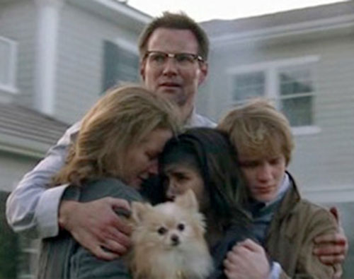 Mister Bennet (Jack Coleman in NBC's Heroes) with his family (and dog)