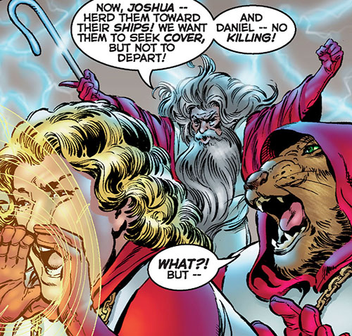 Noah and the Crossbreed (Astro City comics) with Joshua and Daniel