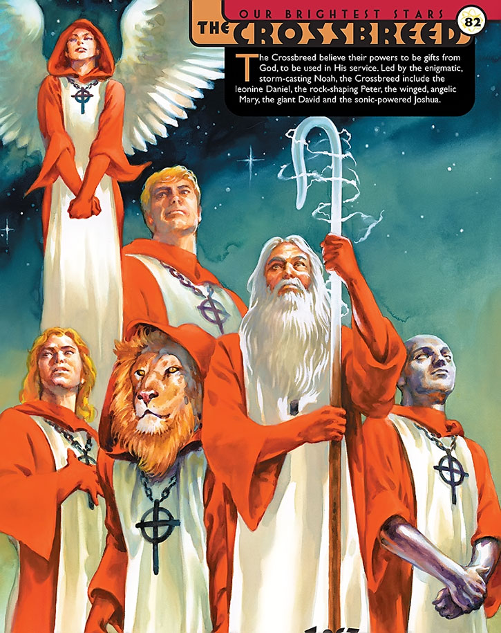 Noah and the Crossbreed Christian super-heroes - group shot